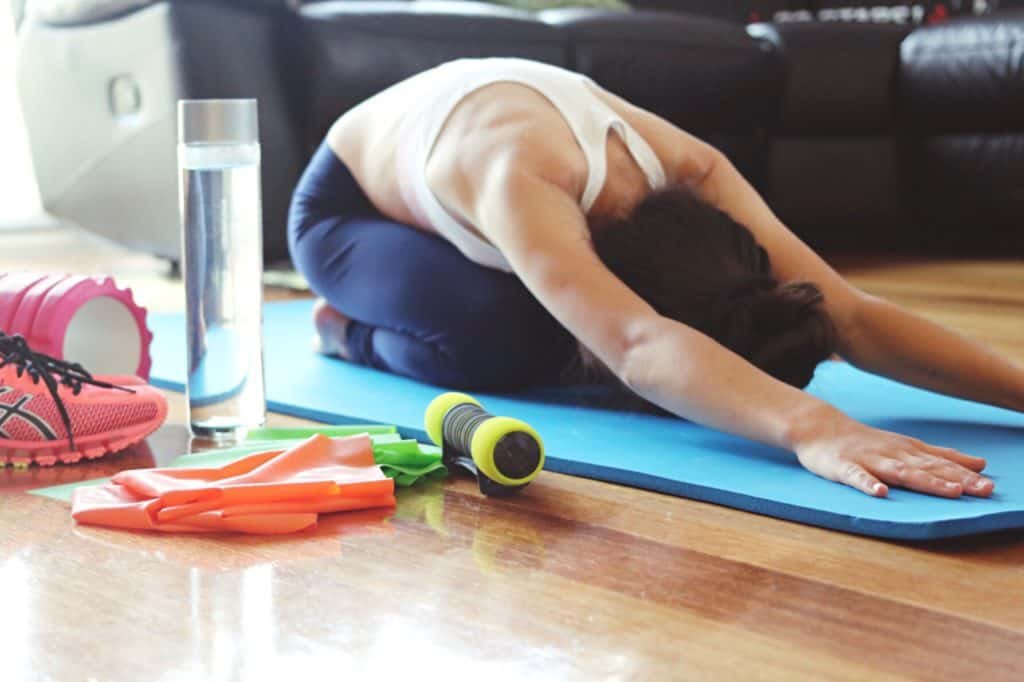 Yoga and stretching