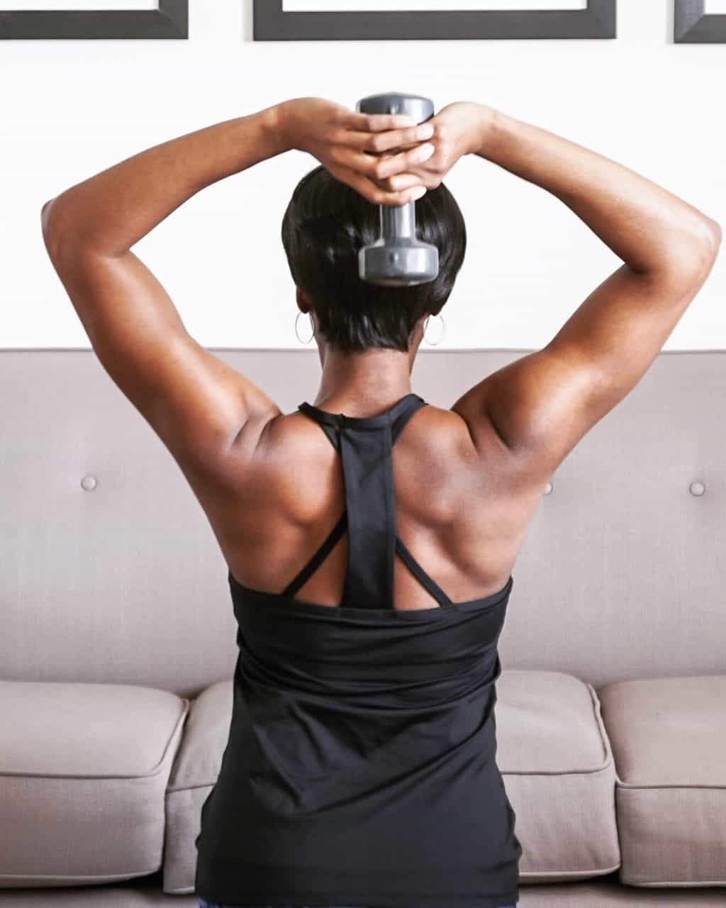 african american woman doing at home workout and showing exercise targeting back muscles t20 ZVmp0N